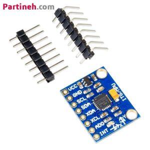 سنسور شتاب و ژایرو (MPU6050 (GY-521