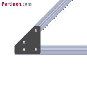 براکت آهنی ۴۵ درجه مناسب پروفیل آلومینیومی ۴۰*۴۰ میلیمتر