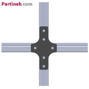 براکت آهنی X پروفیل آلومینیومی ۴۰*۴۰ میلیمتر