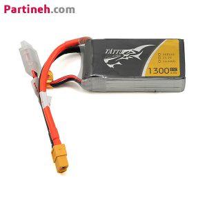 باتری لیتیوم پلیمر ۱۱٫۱ ولت ۱۳۰۰mAh 45C برند TATTU