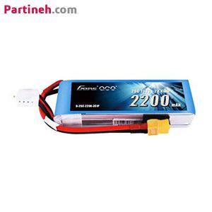 باتری لیتیوم پلیمر ۱۱٫۱ ولت ۲۲۰۰ میلی آمپر ساعت ۴۵C مارک Gens