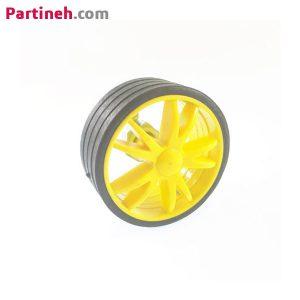 چرخ پلاستیکی ربات قطر ۵۵ میلی متر با بوش فلزی