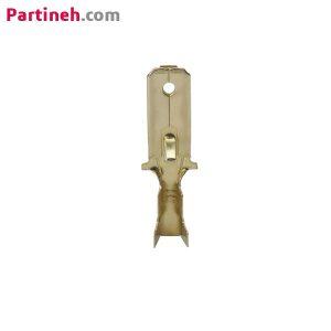 سرسیم نری(فیشی) تخت خاردار-ورودی سیم حداکثر ۱٫۵-عرض فیش ورودی ۳