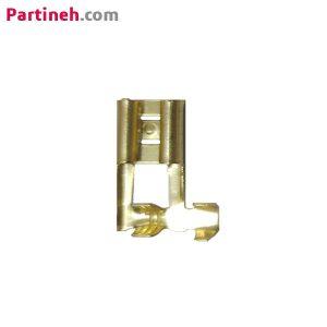 سرسیم کولری(فیشی مادگی) کج-ورودی سیم حداکثر ۱٫۵-عرض داخلی ورودی ۷٫۱