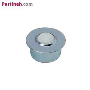بلبرینگ چشمی مدل SP-15-POM به همراه ساچمه پلاستیکی لبه دار توکار ساخت چین