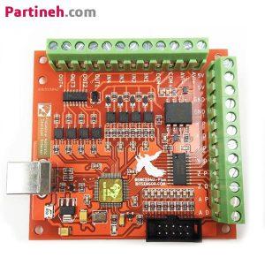 برد کنترلر CNC چهار محور USB Mach3 با خروجی ۱۰۰KHz