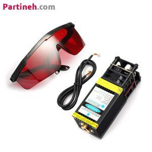 ماژول لیزر ۱۲ ولت ۰٫۵ وات با فوکوس متغیر با عینک محافظ