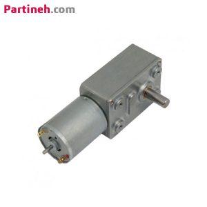موتور DC گیربکس دار ۱۲ ولت ۲۱۰RPM ساخت چین