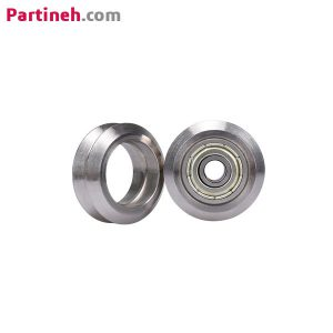 چرخ هرزگرد بلبرینگی استیل V شکل ۱۰٫۴*۲۴ قطر داخلی ۵ میلیمتر