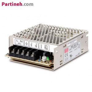 منبع تغذیه سوئیچینگ ۱۲ ولت ۴٫۲ آمپر مدل RS-50-12 برند مینول (MEAN WELL)
