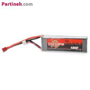 باتری لیتیوم پلیمر ۱۱٫۱ ولت ۱۸۰۰mAh 45C برند Wild Scorpion