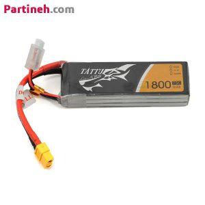 باتری لیتیوم پلیمر ۱۱٫۱ ولت ۱۸۰۰mAh 75C برند TATTU