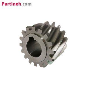 چرخ دنده (دنده مقابل) مورب ۱۶ دندانه مدول ۱/۵ برند GAMBINI