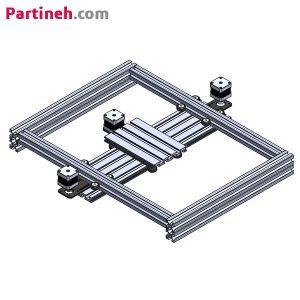 ماژول حرکت صفحه ای دو بعدی CNC با کورس حرکتی ۵۰*۴۰ سانتیمتر به همراه استپر موتور و نرم افزار راه اندازی با Gcode از طریق کامپیوتر
